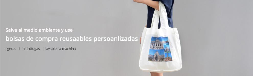 Bolsas de compra reusables personalizadas