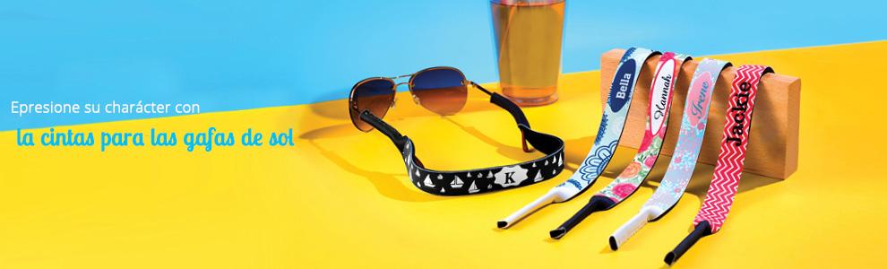 Cintas personalizadas para las gafas de sol