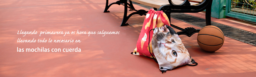 Personalice su mochila con cuerda