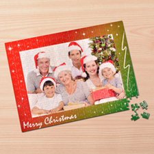 Personalizado Merry Christmas 30.48 cm x 41.91 cm Jigsaw Puzzle