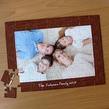 Personalizado Natural Frame 30.48 cm x 41.91 cm Jigsaw Puzzle