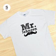 Camiseta Sr. para el novio y esposo, blanca de adulto pequeño