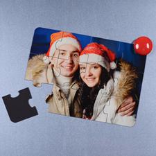 Rompecabezas magnéticos como invitación para  Navidad de 12.70 cm x 17.78 cm