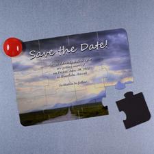 Rompecabezas como carta magnética personalizada con mensage que guarden la fecha