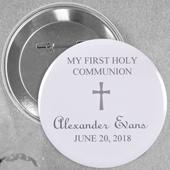 Broche alfiler color gris para bautizo Tamaño: 5.7 cm