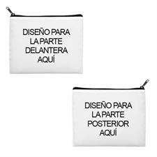 bolsa cosmética personalizada con diseño propio de 2 lados con diferentes imágenes con cremallera negra (20.3x25.4)