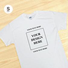 Imagen cuadrada personalizada Camiseta blanca para hombres de dos mensajes talla pequeña pequeños