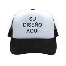 Gorra con impresión personalizada, negra
