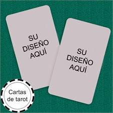 Naipes personalizadso tamaño tarot (Cartas en blanco)