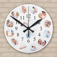 Reloj de acrílico personalizado con collage de fotografías familiares