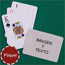 Naipes personalizados tipo póker con índice jumbo y paisaje