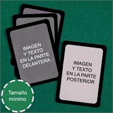 Baraje denaipes personalizados   de tamaño mini (Cartas en blanco) marco negro