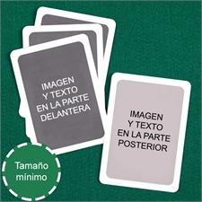 Baraja denaipes personalizados   de tamaño mini (Cartas en blanco) marco blanco