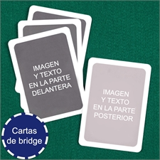 Naipes tamaño Bridge personalizados (Cartas en blanco) con marco blanco