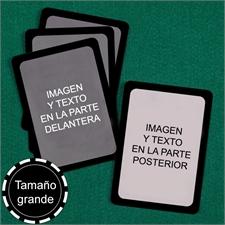 Naipes  de tamaño grande (Cartas en blanco) marco negro