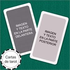 Naipes tamaño tarot personalizados (Cartas en blanco) marco blanco