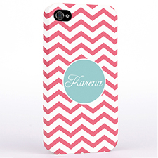 Personalized Carol Chevron iPhone 4 Hard Case Cover