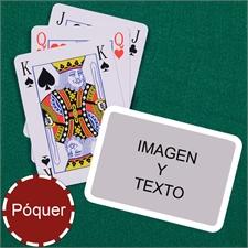 Naipes tipo póker estilo Bridge con marco blanco y paisaje