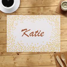 Alfombras de puntos de confeti dorados personalizadas