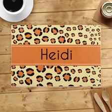 Alfombrillas personalizadas con estampado de leopardo