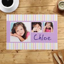 Alfombras de rayas personalizadas para niños