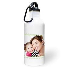 Botella de agua personalizada con foto perfecta, color lima