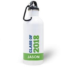Botella de agua personalizada con foto de la Clase Verde de la 2020