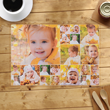 Personalized blanco Twenty Collage Placemats
