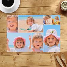 Alfombrillas personalizadas de blanco Seven Collage