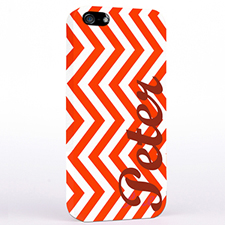Personalized Red Chevron iPhone Case