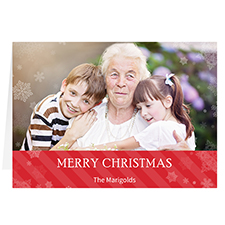 Let it Snow Red Personalized Christmas Greeting Card