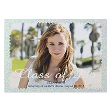 Picture Of Success Glitter Personalized Photo Graduation Announcement 5X7 Party Invitation Card