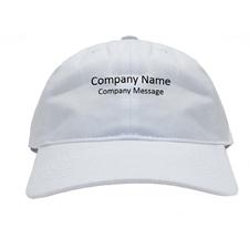 Gorra de béisbol personalizada color blanca con nombre impreso