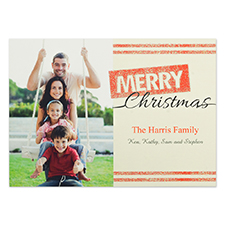 Personalized Merry Glitter Christmas Invitation Cards