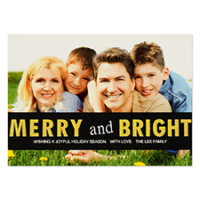 Personalized Merry And Bright Invitation Cards