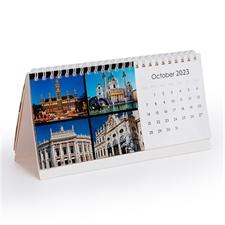 Calendario de escritorio de empresa, promocional con fotografías