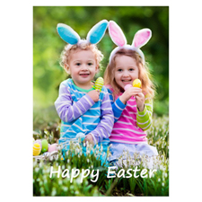 Personalized Full Photo Easter Invitations, 5X7 Portrait Stationery Card