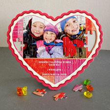 Sending Love Personalizado Heart Shape Puzzle