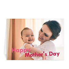 5X7 Folded Personalized Greeting Cards, Happy Mother's Day