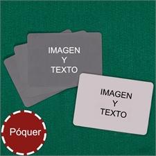 Naipes tipo póker con paisaje personalizados (Cartas en blanco)