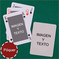 Naipes tipo póker estilo Bridge personalizados de los 2 lados