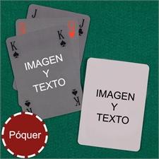 Naipes tipo póker simple, estilo Bridge personalizados de los 2 lados