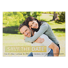 Personalized Glitter Gold Simple Day Personalized Photo Save The Date Save The Date Invitation Cards