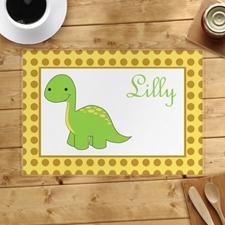 Alfombrillas de dinosaurio verde personalizadas
