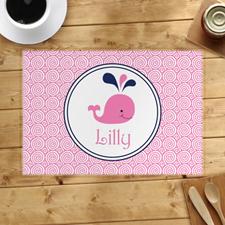 Alfombrillas de ballena rosa personalizadas