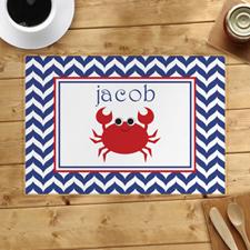 Símbolos personalizados Manteles individuales de cangrejo rojo