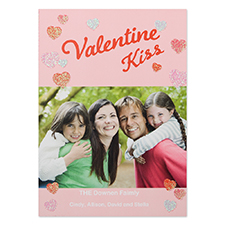 Glitter Let Love Grow Personalized Photo Valentine's Card