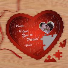 My Heart Personalizado Heart Shape Puzzle