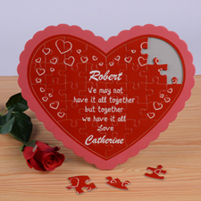 Little Hearts Personalizado Heart Shape Puzzle