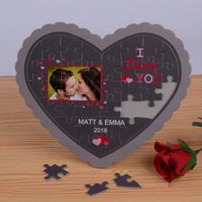 Sweet Love Personalizado Heart Shape Puzzle